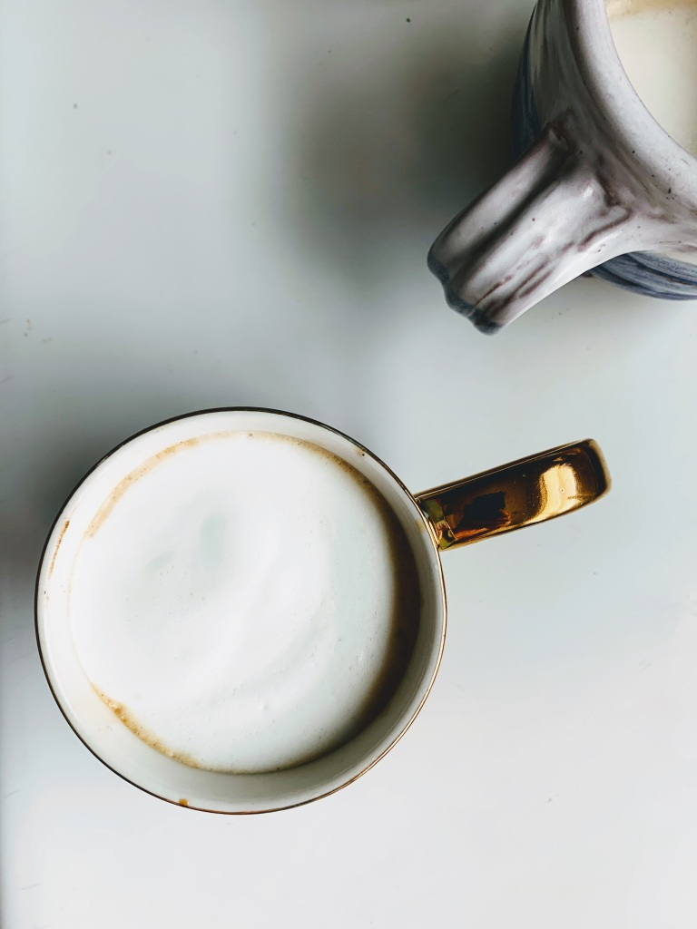 Two lattes from overhead