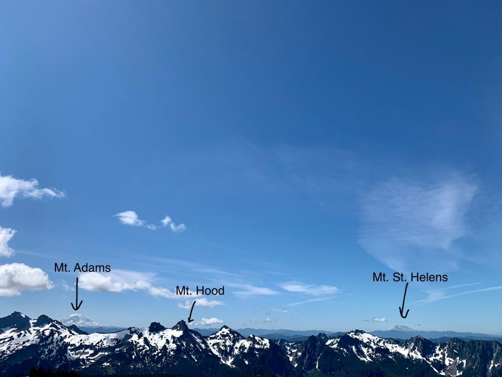 Mt. Adams, Mt. Hood & Mt. St. Helens