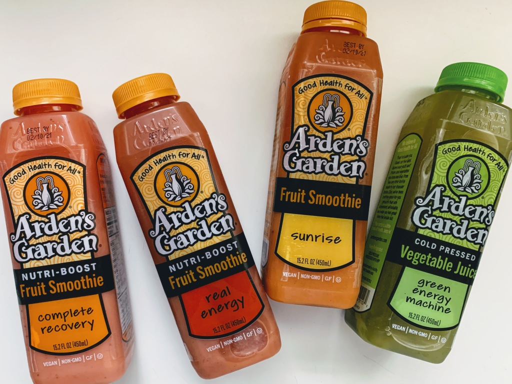 4 Arden's Garden smoothies